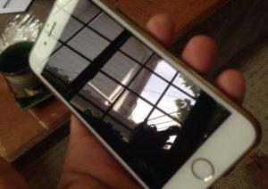 iPhoneガラスコーティングの画面