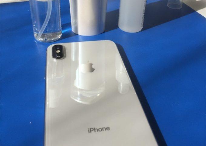 iPhone Xガラスコーティング岡山の施工事例